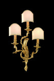 Ornate triple wall light with three Venetian style shades