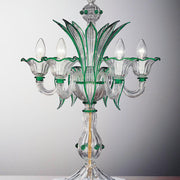 Emerald green Murano glass flambeau light