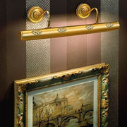 Four-light gold-plated classic Italian picture light