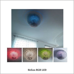 Helios Italian crystal glass ceiling light by Marchetti