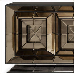Beautiful bronze Venetian mirrored glass sideboard