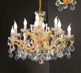 Clear Glass and Genuine Crystal Maria Theresa Chandelier