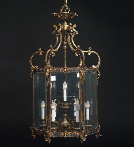 9 Light Brass Lantern