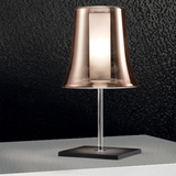 Cloche copper-plated glass table lamp from Leucos