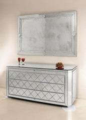 Venetian mirrored chest of drawers in the art deco style