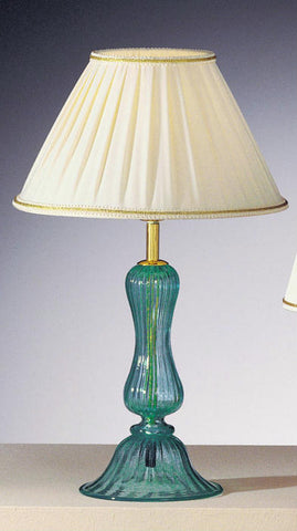 Aqua Murano Glass Lamp Base