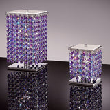 Table light with 6 Swarovski crystal colours