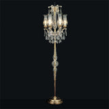 Maria Theresa flambeau floor light with Swarovski Strass crystal