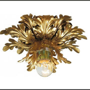 Leaf Metal Work Downlighter in Dark Gold Metal