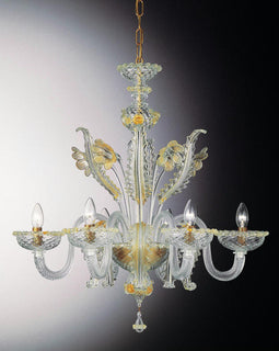 Lombardia 6 Light Classic Golden Italian Chandelier made in