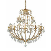 Swarovski Elements Crystal and Gold Metal Chandelier