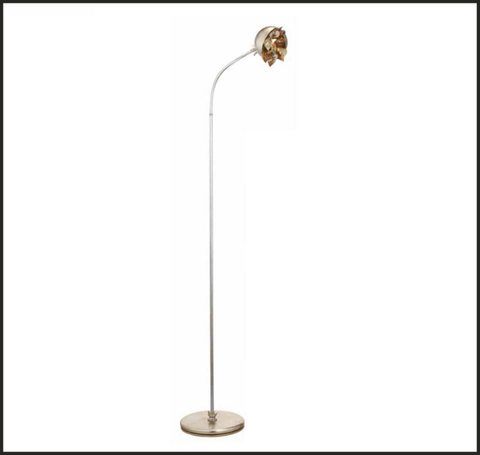 Floor lamp in silver and gold with Swarovski Elements crystals