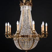 Lead Crystal Empire Style Chandelier