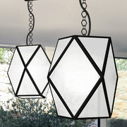 Large black or white outdoor ceiling lantern