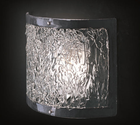 Contemporary Style Clear Murano Glass Wall Light