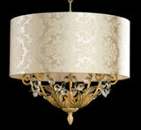 Damask and Crystal Pendant Light