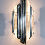 Modern bronze or chrome wall light with Pexiglas pipes