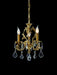 Small 3 light chandelier from Italy with optional crystals