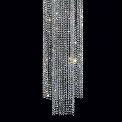 2 metre-tall gold-plated crystal pendant light from Italy