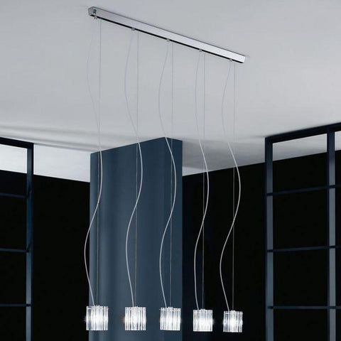 Charlotte S5L Murano glass suspended light from De Majo