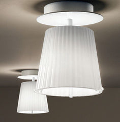 Minimal clear or white Murano glass ceiling lights