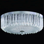 55 cm Murano quadriedri prism flush  light with chrome frame