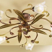 Five Arm Floral Ceiling Light