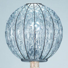 Murano crystal and antique ivory garden lamp post