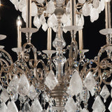 Beautiful quartz chandelier in 5 custom colours