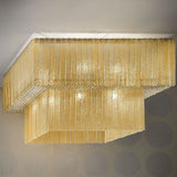 16 Light Glass Ceiling Light
