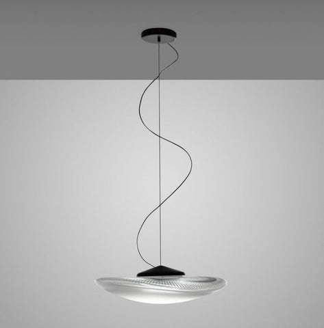 Loop F35 A03 white Italian glass pendant from Fabbian
