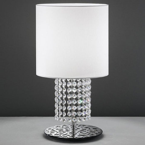 Swarovski crystal table lamp with a decorative chrome finish
