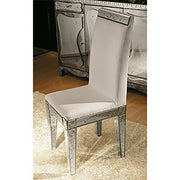 Elegant engraved Venetian mirror chair