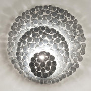 Tresor gold or silver plated disc wall light  from Terzani