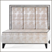 Luxurious Italian upholstered fabric banquette