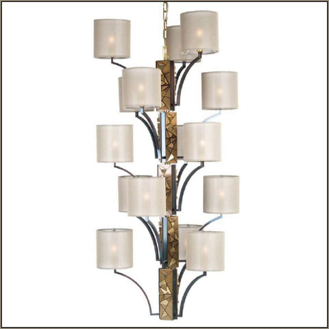 Chic tall Italian wall light with 6 shades