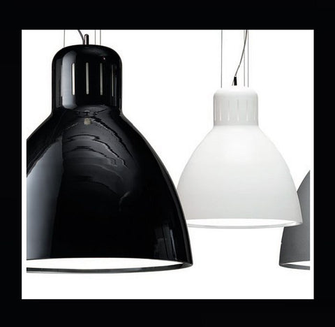 Leucos Great JJ white black or grey large aluminium pendant from