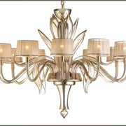 Chic mirror effect Murano glass chandelier with shades