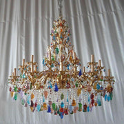 Large 24 light Murano glass fruit chandelier