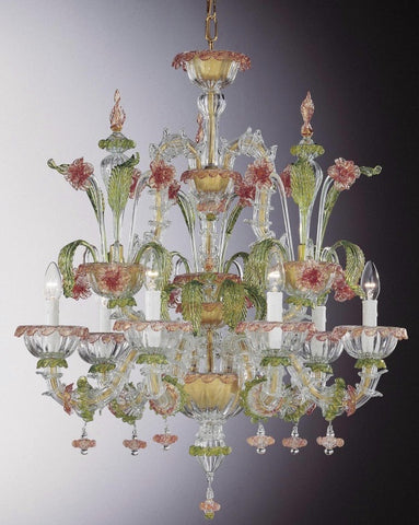 Ornate floral Murano glass Chandelier