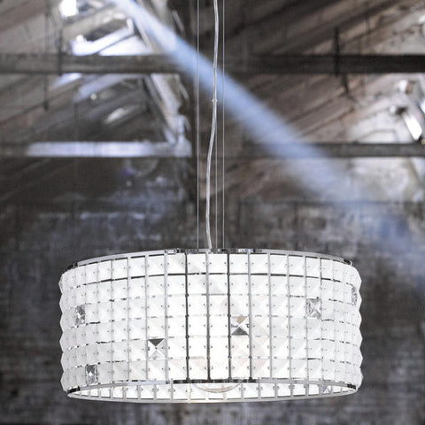 Frosted Glass Circular Ceiling Pendant