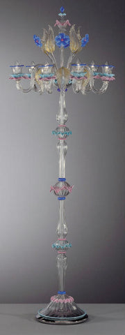 Murano glass chandelier floor light with flowers