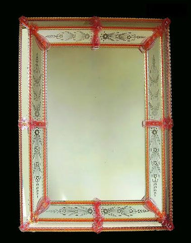 Ellaborate Red Venetian Mirror