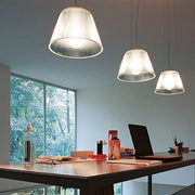 Romeo Moon glass & polycarbonate ceiling pendant from Flos