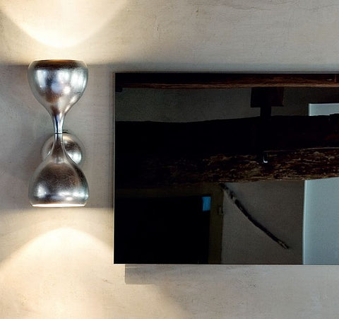 Modern metal wall light in 5 colours