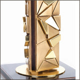 Luxury gold table lamp with custom finishes