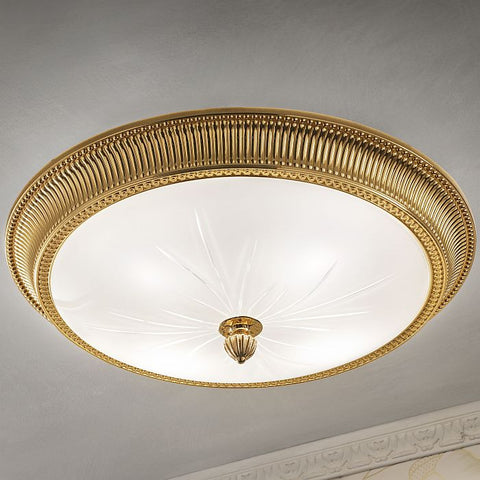 Solid Brass Frame Ceiling Light