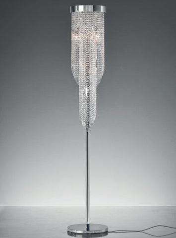Modern Italian lead crystal floor lamp