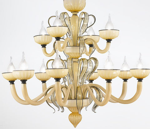 Dolce Vita 12 light Murano glass chandelier