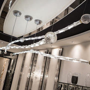 Luxury ultra-modern 4 metre long LED Venetian chandelier